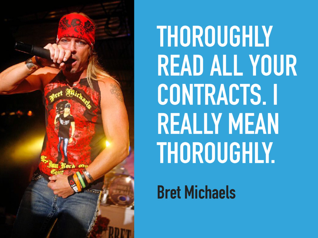 THOROUGHLY READ ALL YOUR CONTRACTS. I REALLY ME...