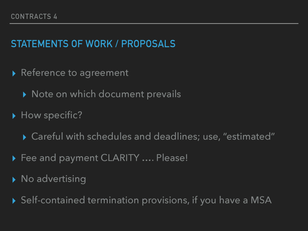 CONTRACTS 4 STATEMENTS OF WORK / PROPOSALS ▸ Re...