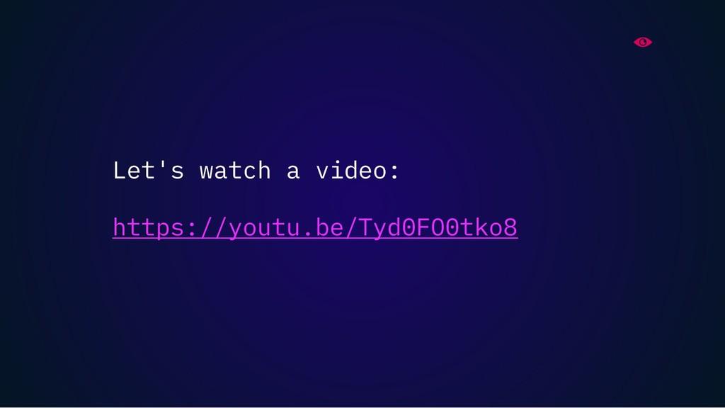 Let's watch a video: https://youtu.be/Tyd0FO0tk...