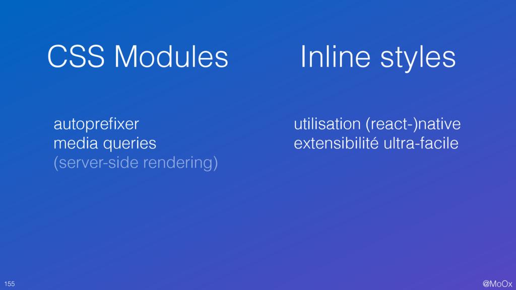 @MoOx CSS Modules 155 Inline styles autoprefixer...