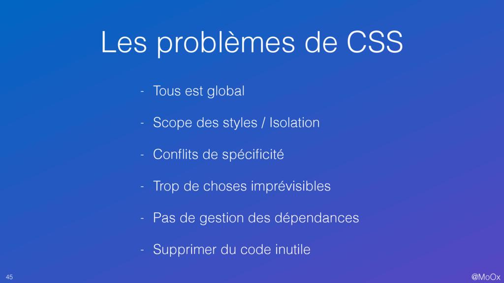 @MoOx Les problèmes de CSS 45 - Tous est global...