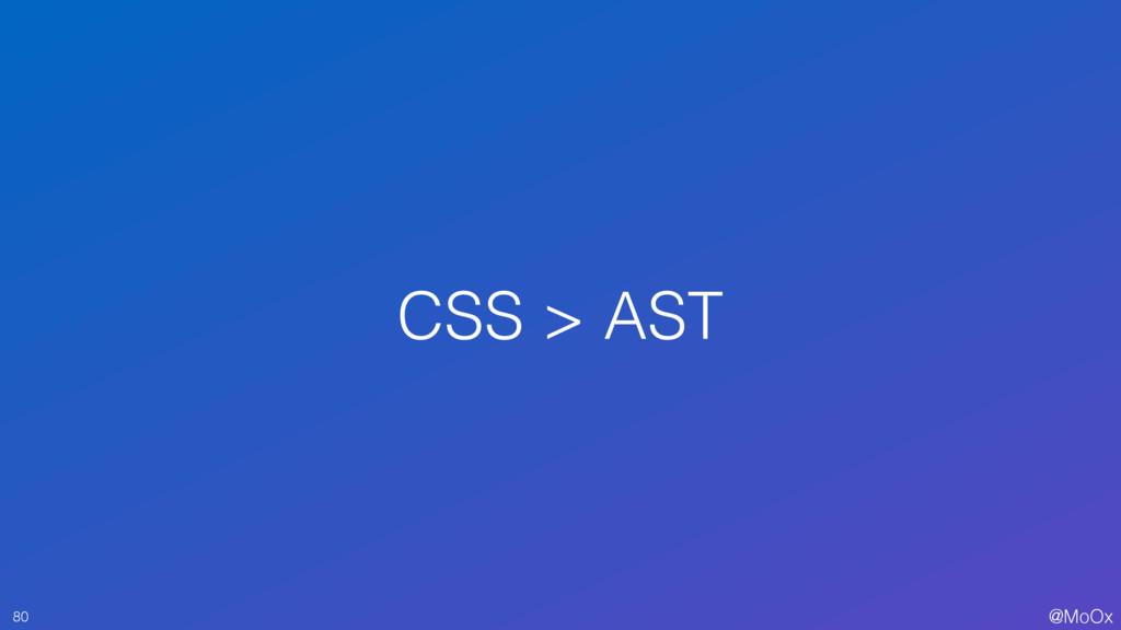 @MoOx CSS > AST 80