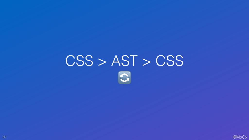 @MoOx CSS > AST > CSS  82