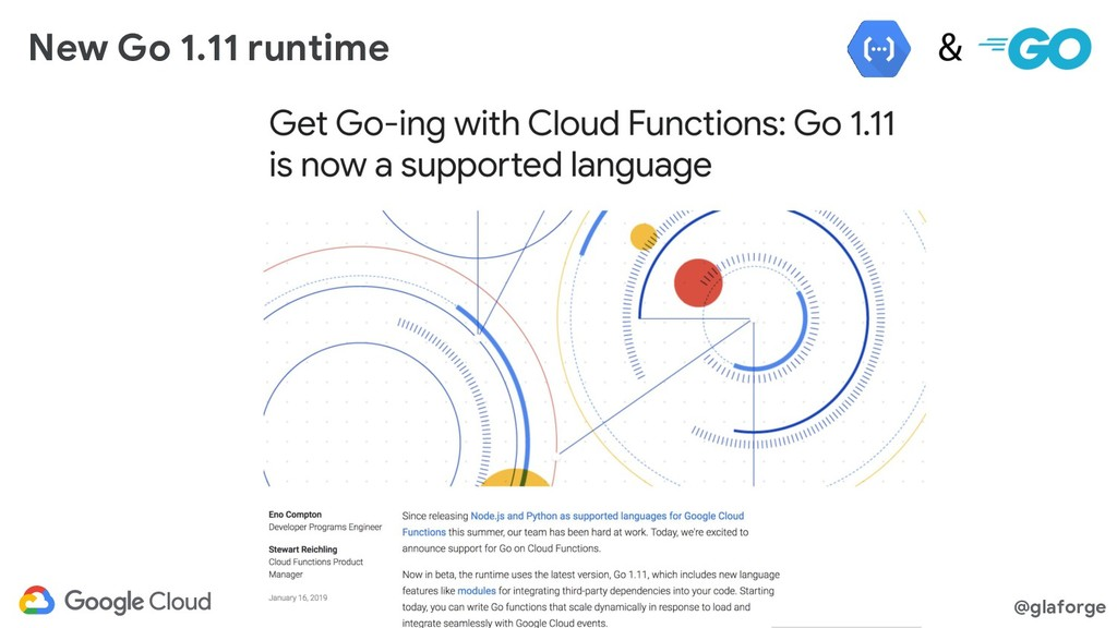 @glaforge New Go 1.11 runtime
