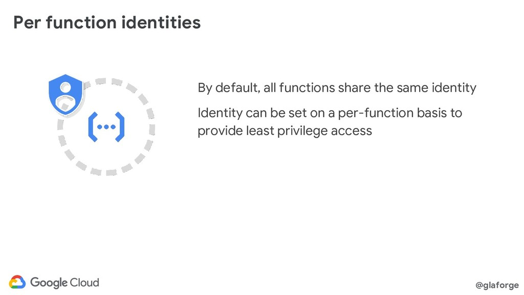 @glaforge Per function identities By default, a...
