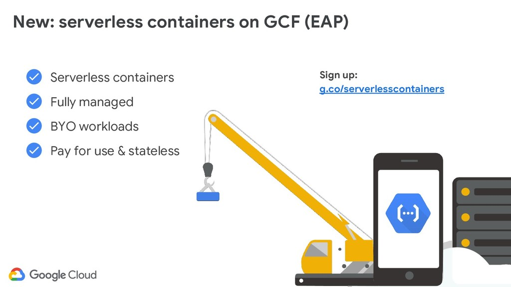 @glaforge Serverless containers Fully managed B...