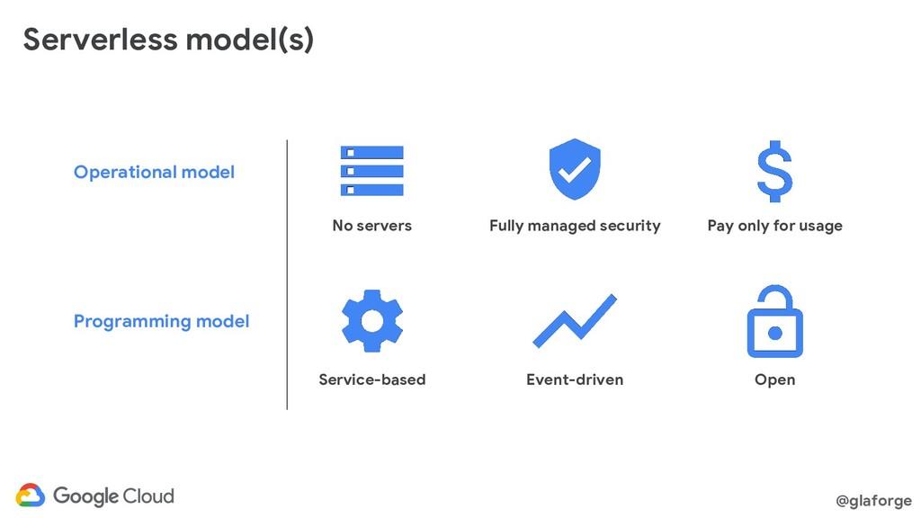@glaforge Serverless model(s) Operational model...