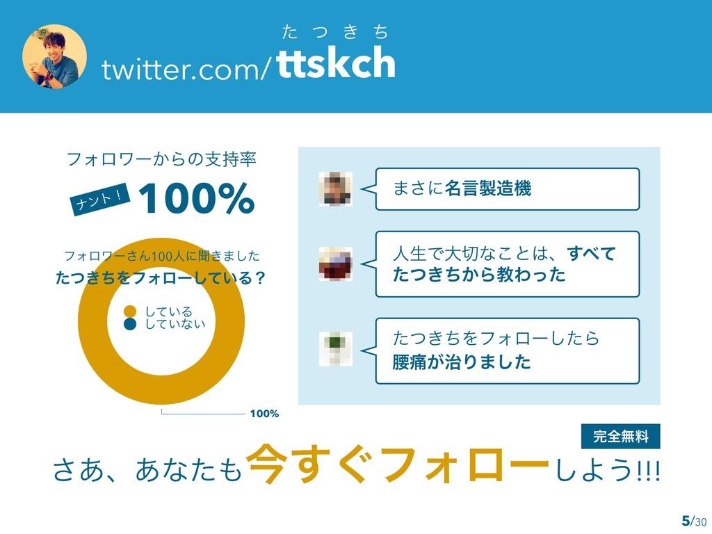 /30 ͨ ͭ ͖ ͪ twitter.com/ttskch ͋͞ɺ͋ͳͨࠓ͙͢ϑΥϩʔ͠Α...