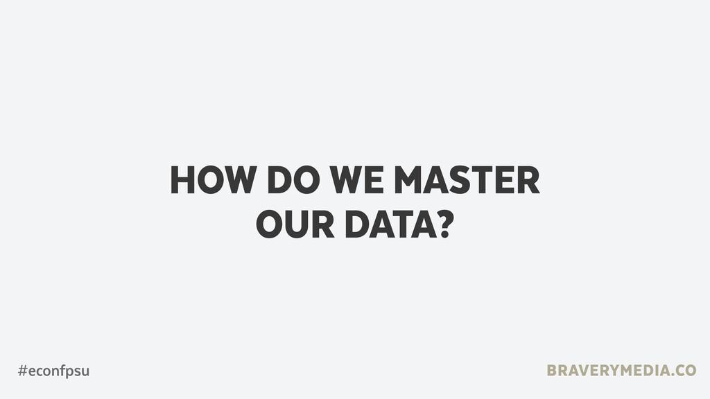 BRAVERYMEDIA.CO HOW DO WE MASTER  OUR DATA? #e...