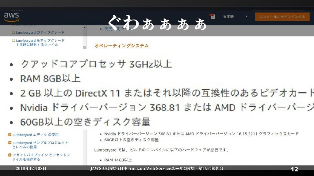12 12 2018年12月08日 2018年12月08日 JAWS-UG愛媛 (日本 Ama...