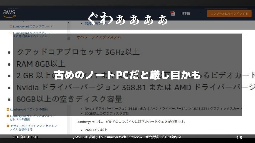 13 13 2018年12月08日 2018年12月08日 JAWS-UG愛媛 (日本 Ama...