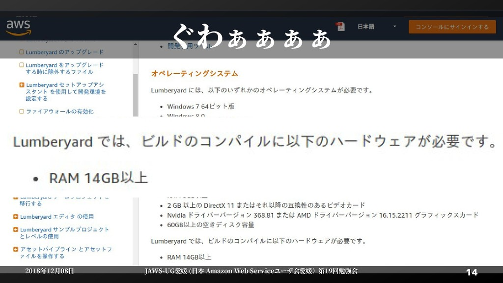 14 14 2018年12月08日 2018年12月08日 JAWS-UG愛媛 (日本 Ama...
