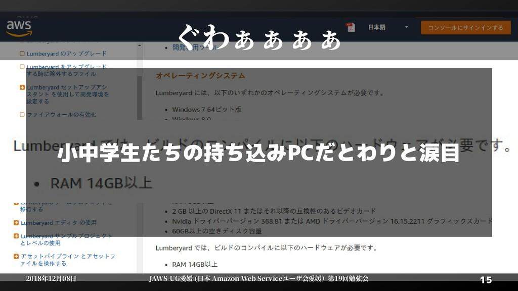 15 15 2018年12月08日 2018年12月08日 JAWS-UG愛媛 (日本 Ama...
