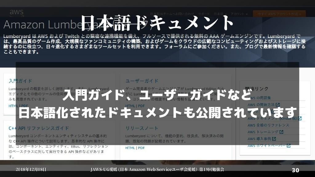 30 30 2018年12月08日 2018年12月08日 JAWS-UG愛媛 (日本 Ama...