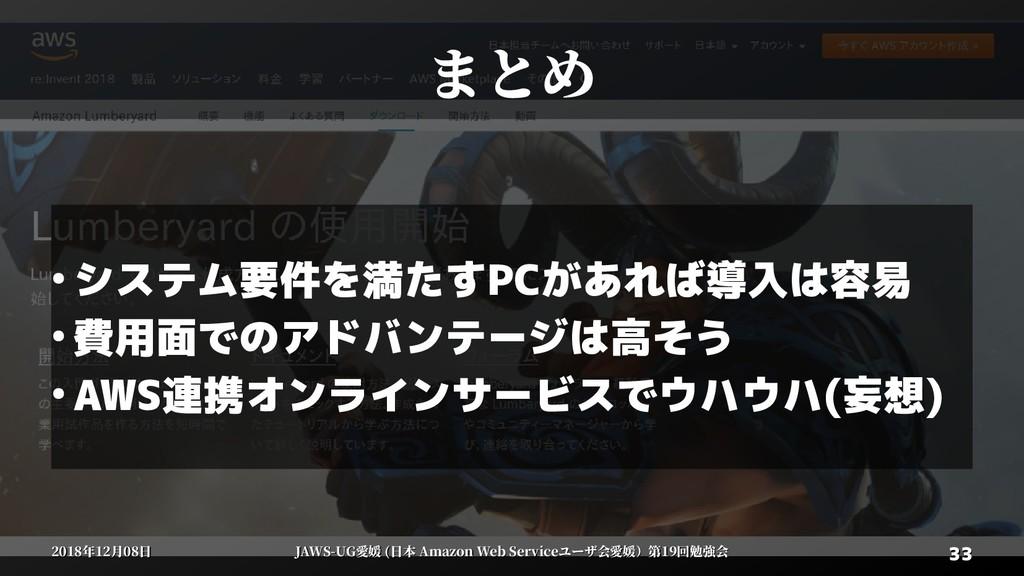 33 33 2018年12月08日 2018年12月08日 JAWS-UG愛媛 (日本 Ama...