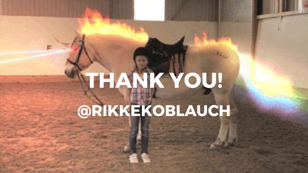 THANK YOU! @RIKKEKOBLAUCH