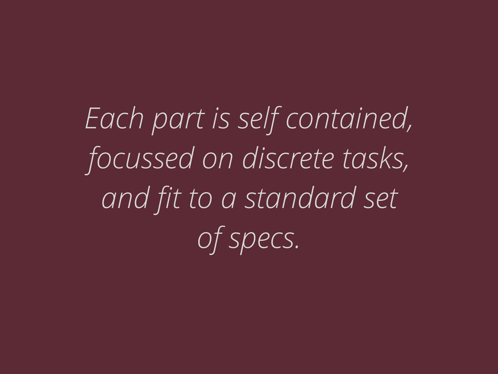 Each part is self contained, focussed on discre...