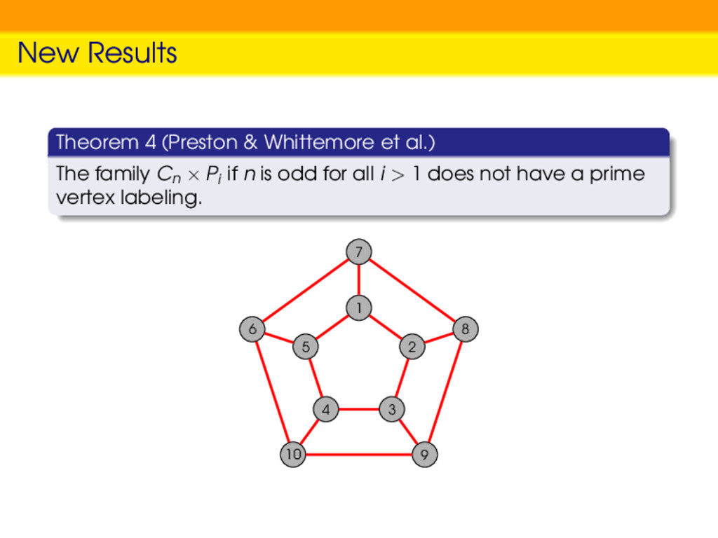 New Results Theorem 4 (Preston & Whittemore et ...