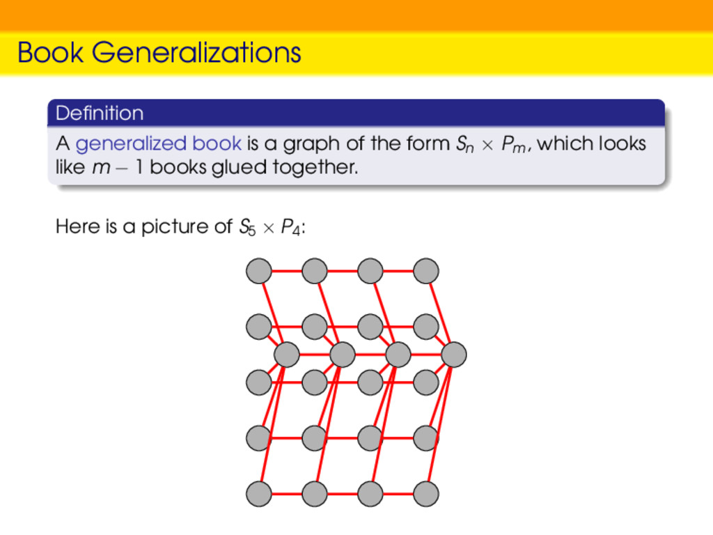 Book Generalizations Definition A generalized bo...