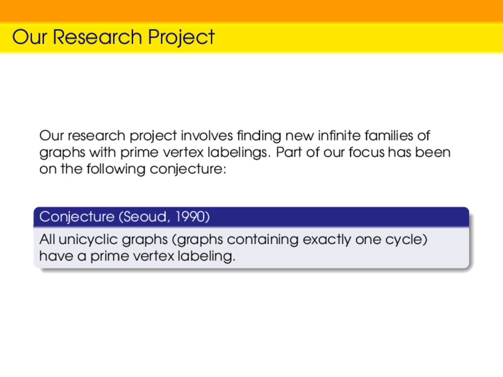 Our Research Project Our research project invol...