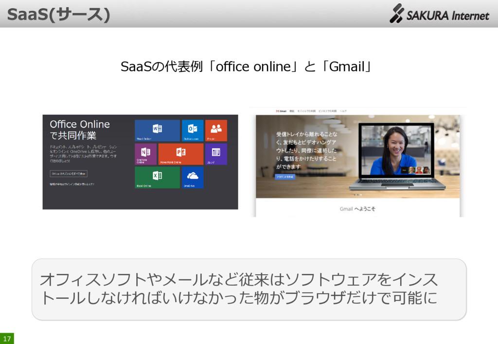 17 SaaSの代表例「office online」と「Gmail」 オフィスソフトやメールな...