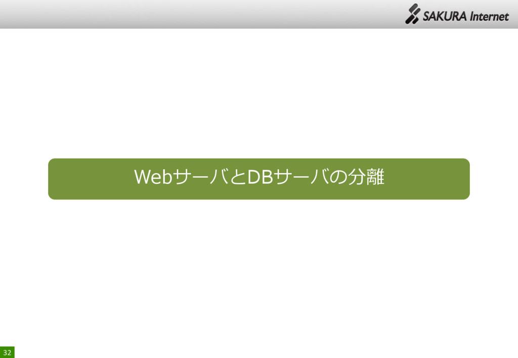 32 WebサーバとDBサーバの分離
