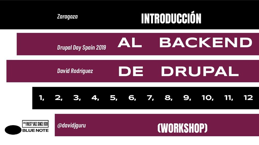 INTRODUCCIÓN AL BACKEND DE DRUPAL (WORKSHOP) Za...