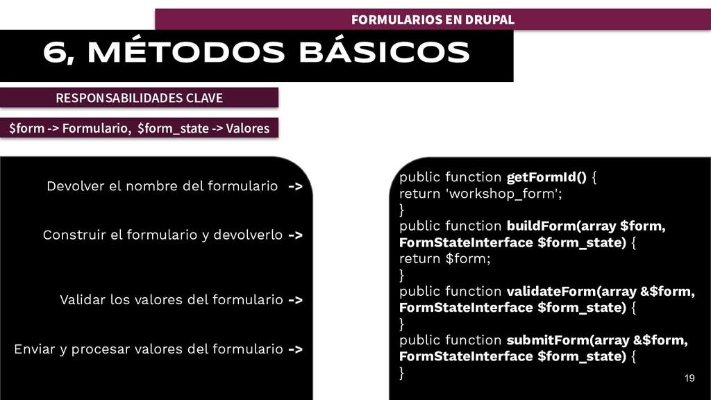 FORMULARIOS EN DRUPAL 6, MÉTODOS BÁSICOS RESPON...