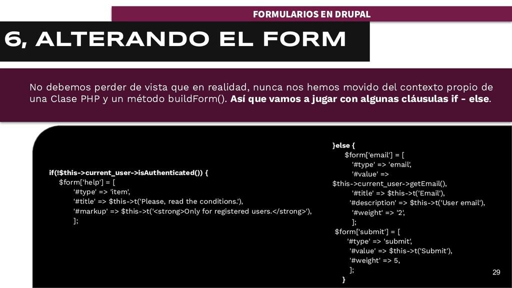 FORMULARIOS EN DRUPAL 29 6, ALTERANDO EL FORM i...