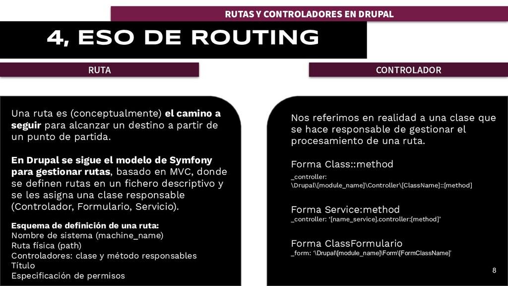 RUTAS Y CONTROLADORES EN DRUPAL 4, ESO DE ROUTI...