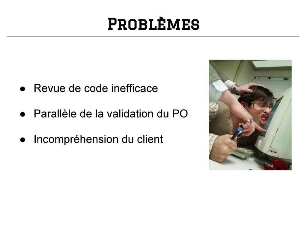 Problèmes ● Revue de code inefficace ● Parallèl...
