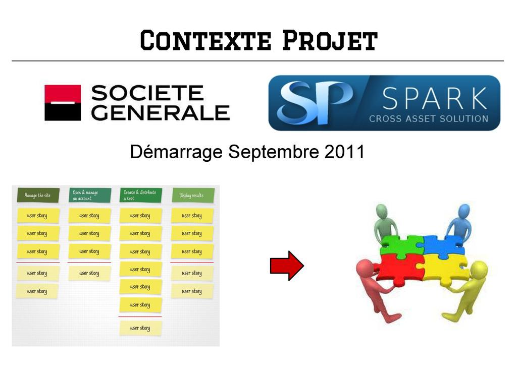 Contexte Projet Démarrage Septembre 2011