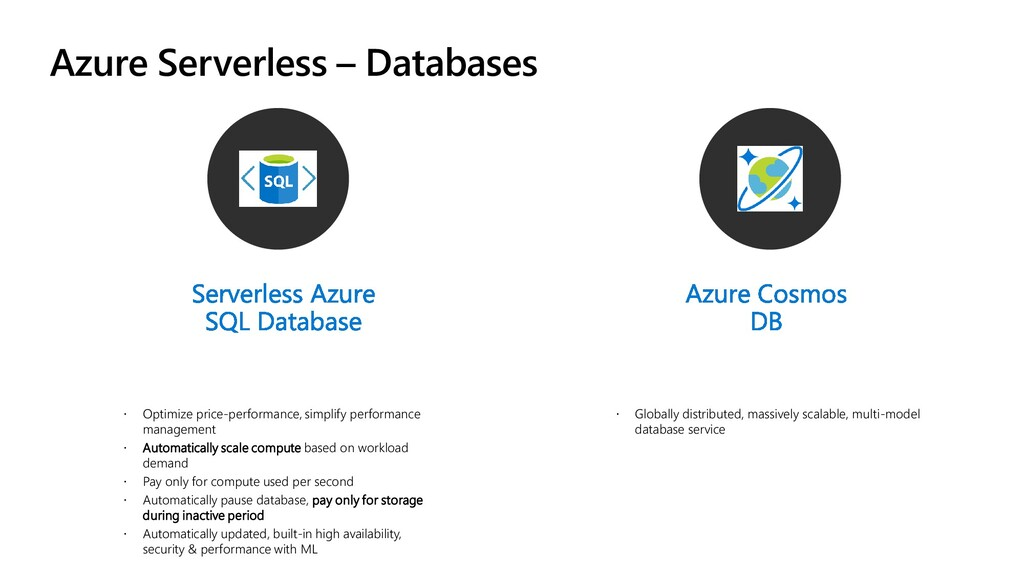 Azure Serverless – Databases  Optimize price-p...
