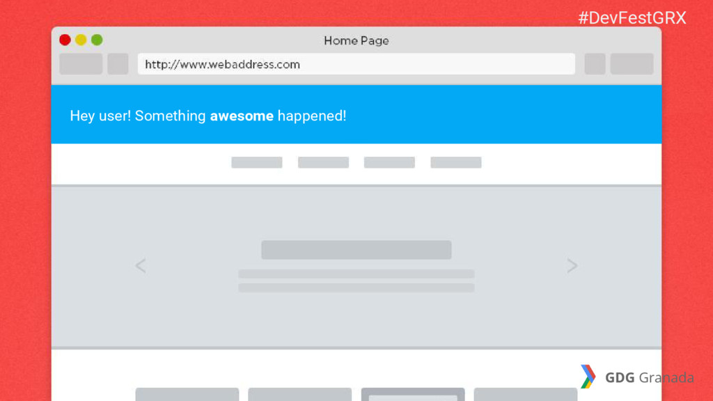Hey user! Something awesome happened! #DevFestG...