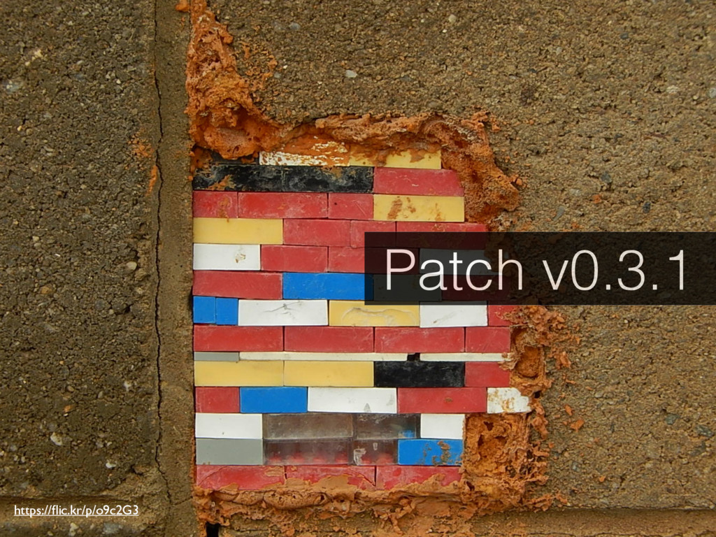 https://flic.kr/p/o9c2G3 Patch v0.3.1