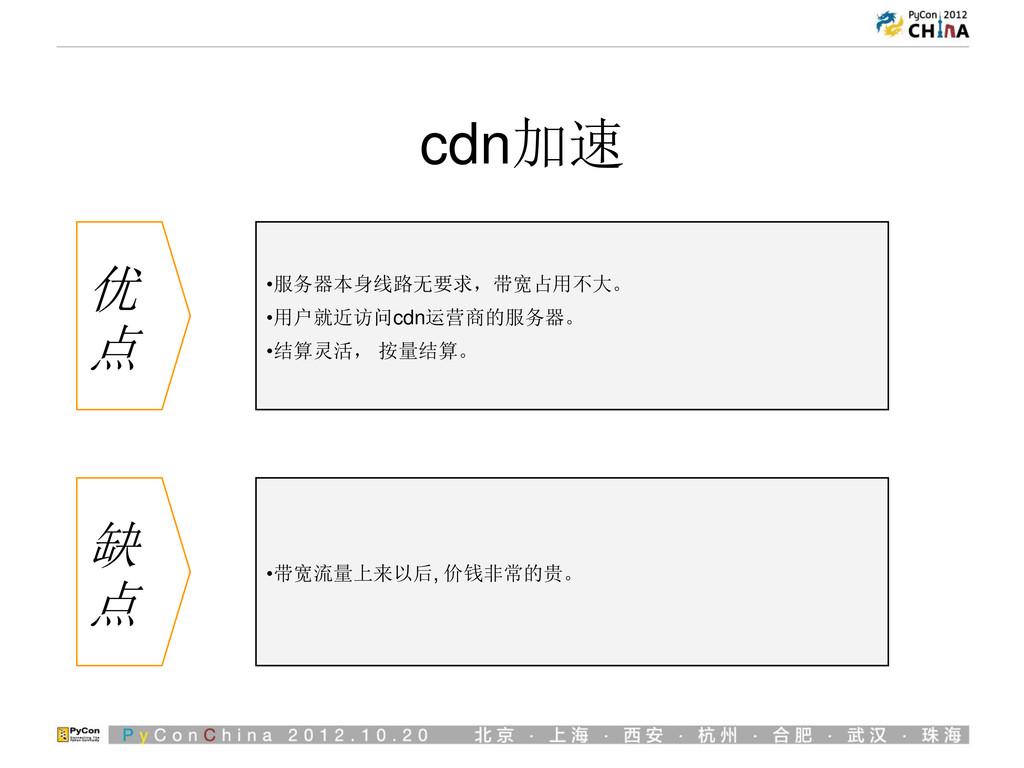 bgp多线 优 点 •的 •森 缺 点 •的 •森 cdn加速 优 点 •服务器本身线路无要求...