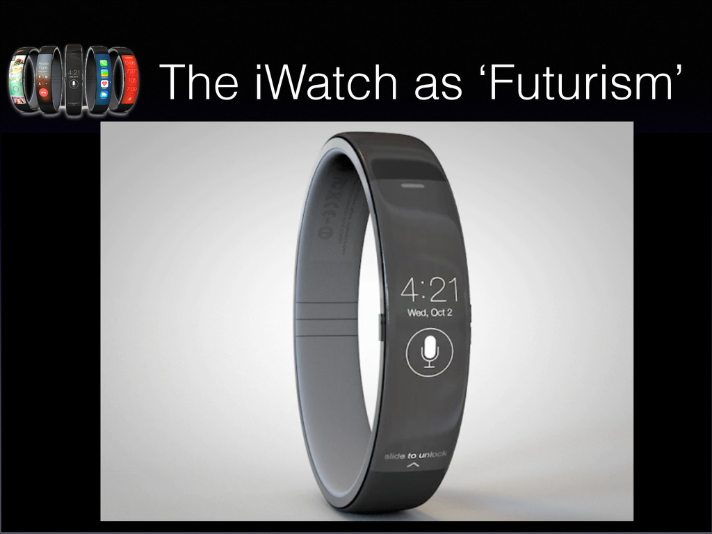The iWatch as 'Futurism' • There is a belief in...