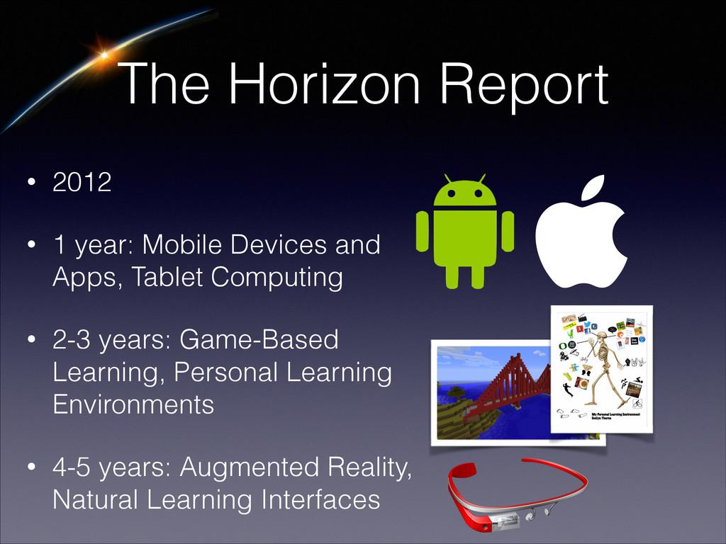 The Horizon Report • 2012 • 1 year: Mobile Devi...