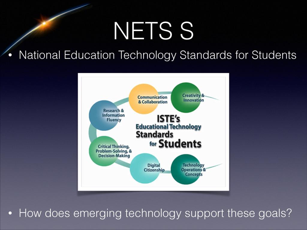 NETS S • National Education Technology Standard...