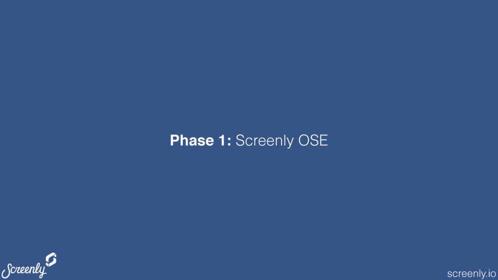 screenly.io Phase 1: Screenly OSE