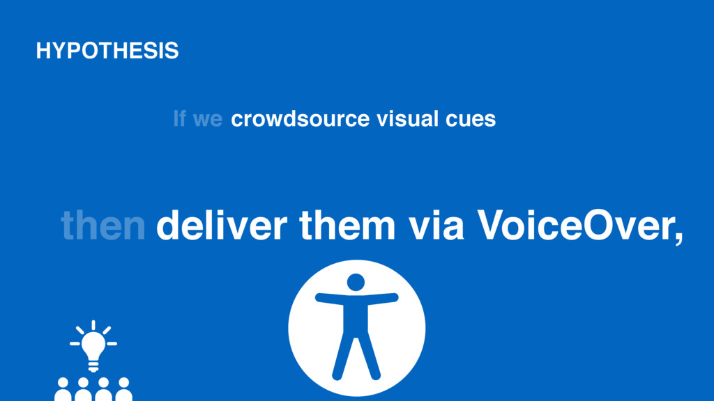 HYPOTHESIS If we crowdsource visual cues then d...