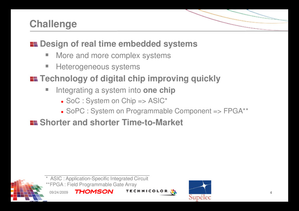 Challenge Design of real time embedded systems ...