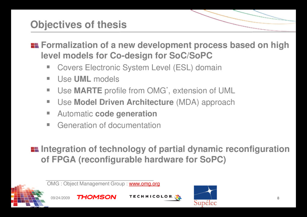 Objectives of thesis Formalization of a new dev...