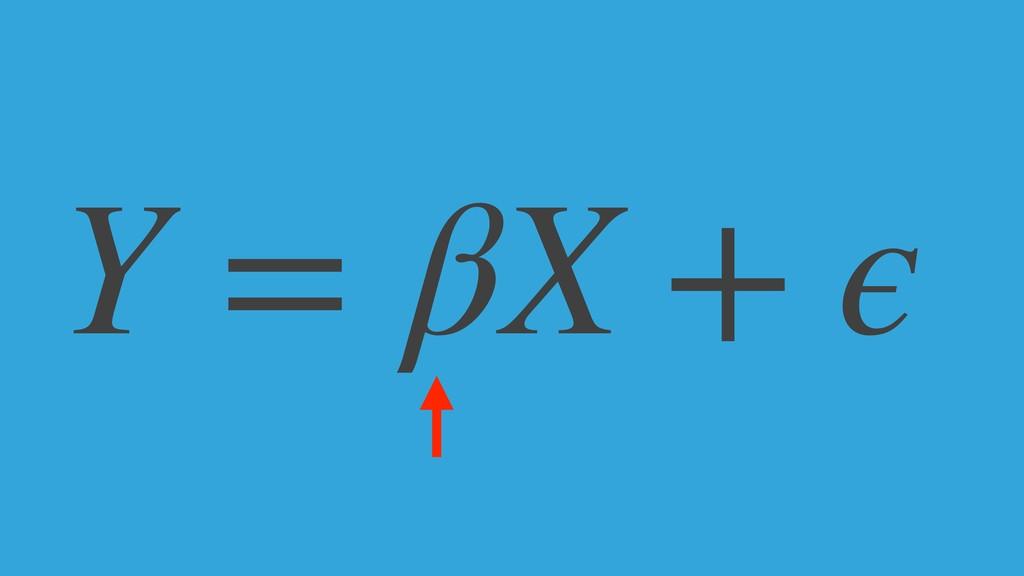 Y = βX + ϵ