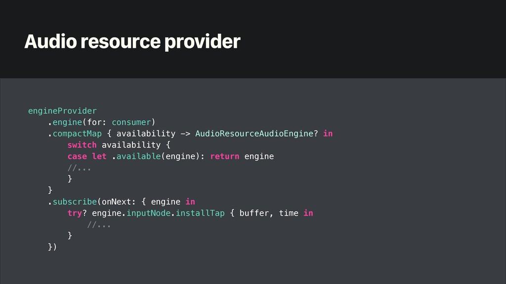 Audio resource provider engineProvider   .engin...