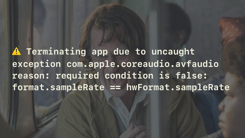 ⚠ Terminating app due to uncaught exception com...
