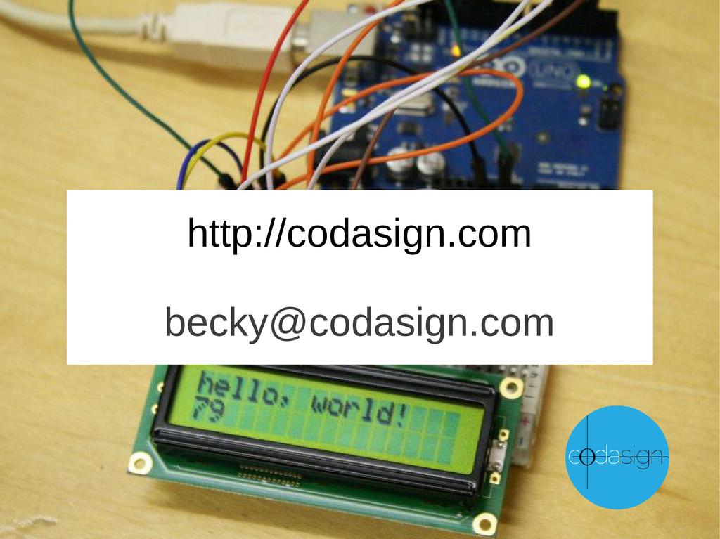 http://codasign.com becky@codasign.com