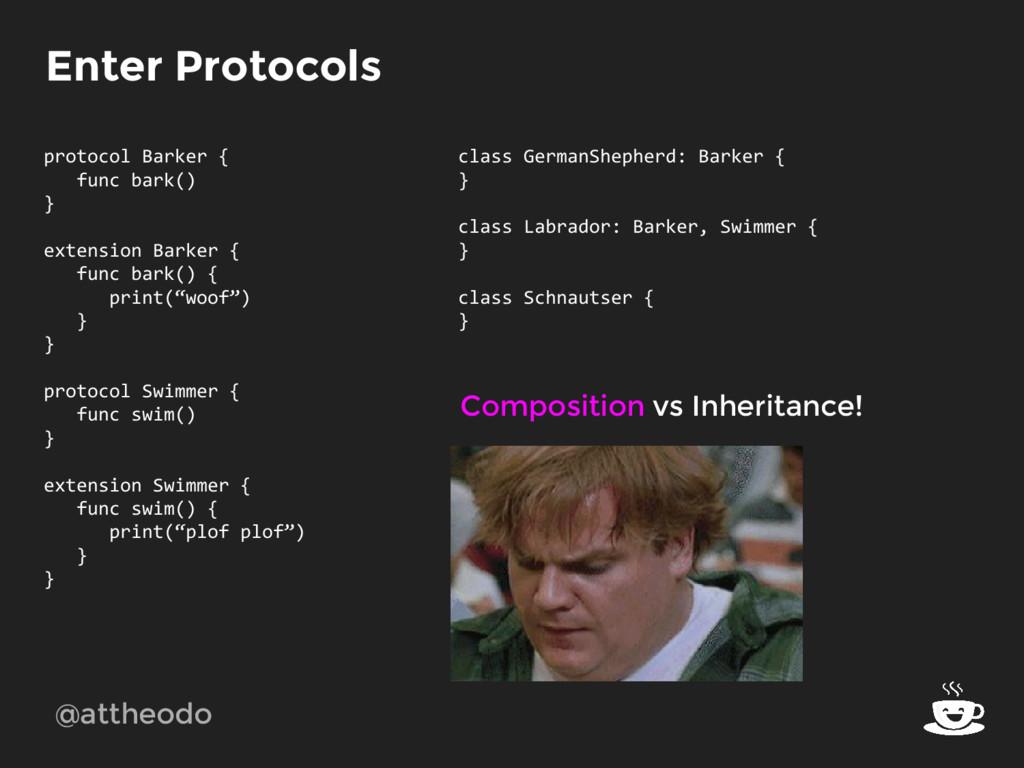 @attheodo Enter Protocols protocol Barker { fun...