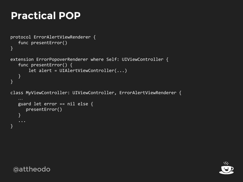 @attheodo Practical POP protocol ErrorAlertView...