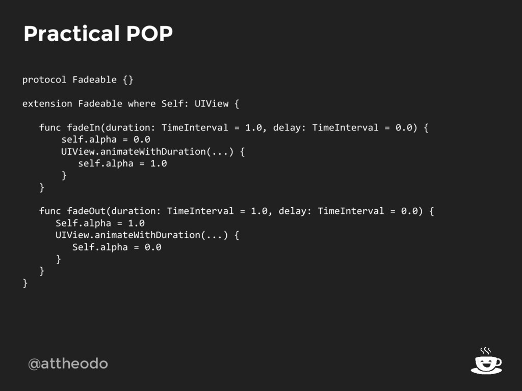 @attheodo Practical POP protocol Fadeable {} ex...